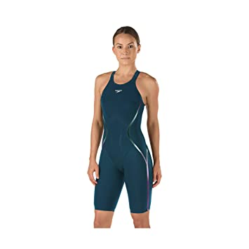 8dd4a06d627a Speedo LZR Racer X Open Back Kneeskin, Dark Teal (25), Swimming - Amazon  Canada