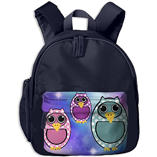 Polkadot Owl Kids Polyester Oxford Backpack,Bag For Boys