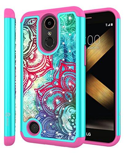 [해외]LG K20 플러스 케이스, LG K20 V 케이스, LG 하모니 케이스, LG 그레이스 케이스, LG K10 2017 케이스, Style4U [충격 방지] 모조 다이아몬드 크리스탈 블링 하이브리드 갑옷/LG K20 Plus Case, LG K20 V Case, LG Harmony Case, LG Grace Case, LG ...