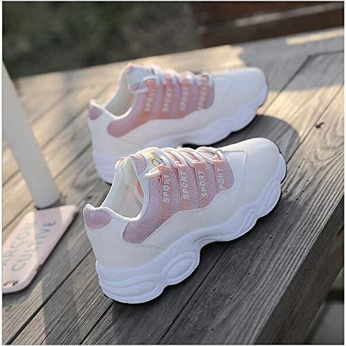 Tacco White Da Sintetiche Donna Rosa Zhznvx Bianco Piatto Comfort tulle Sneakers Scarpe autunno Primavera nero fHRzpwq