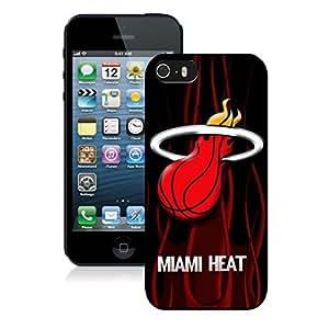 New Custom Design Cover Case For iPhone 5s Generation Miami Heat 4 Black Phone Case