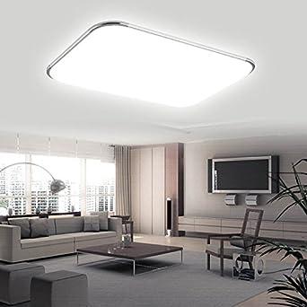 Hengda® 96W LED Eckig Deckenlampe Leuchte 8640LM Silber Weiß (6000K ...