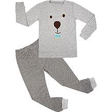 BOOPH Boys Pajamas 2 Picese Monkey Short Pajama Set 100% Cotton Sleepwear 2-7T