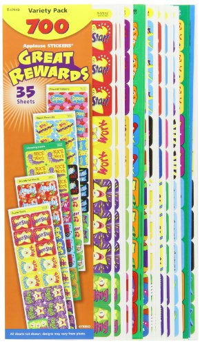 Trend Enterprises Applause Great Rewards Jumbo Variety Sticker Pack - Pack of 700 by Trend Enterprises