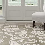 Lavish Home Floral Scroll Area Rug, 3'3″ by 5′, Green/Ivory Review