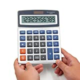 Basic Calculators OFFIDIX Office Desktop Calculator, Solar and Battery Dual Power Electronic Calculator Portable Large LCD Display Calculator Big Numbers Calculator (Big Size)