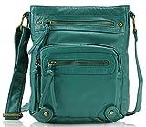 Scarleton Washed Multi Pocket Crossbody Bag H169335 - Turquoise