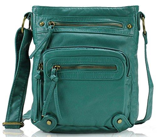 - Scarleton Washed Multi Pocket Crossbody Bag H169335 - Turquoise