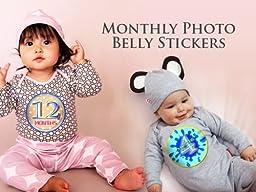 BLUE BANANA MONKEYS Baby Month Onesie Stickers Baby Shower Gift Photo Shower Stickers, baby boy monkeys by OnesieStickers