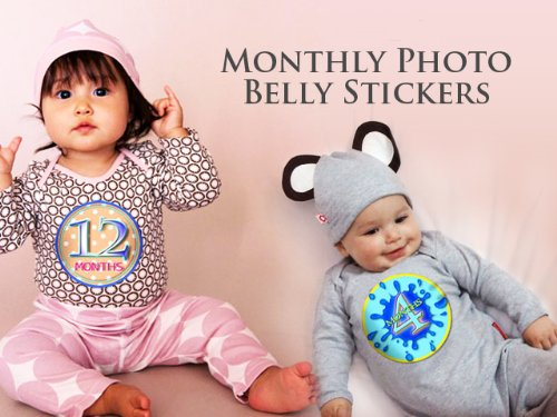 Baby Boy Gifts Uae : Months blue banana monkeys baby month onesie stickers