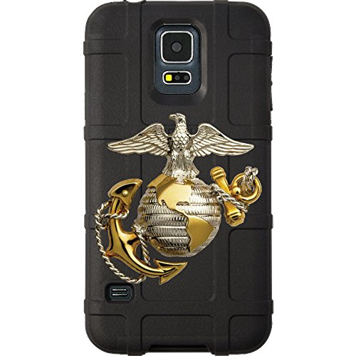 EGO Tactical Limited Edition Design UV-Printed onto a MAG476 Field Case Compatible with Samsung Galaxy S5 Black, Gold US Marine Corps
