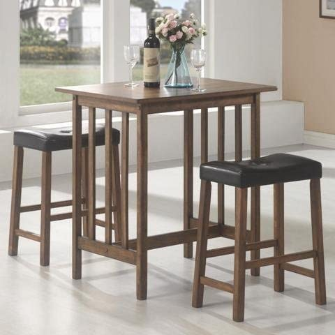 3pc Breakfast Table and Stools Set in Nut Brown  sc 1 st  Amazon.com & Table \u0026 Chair Sets | Amazon.com