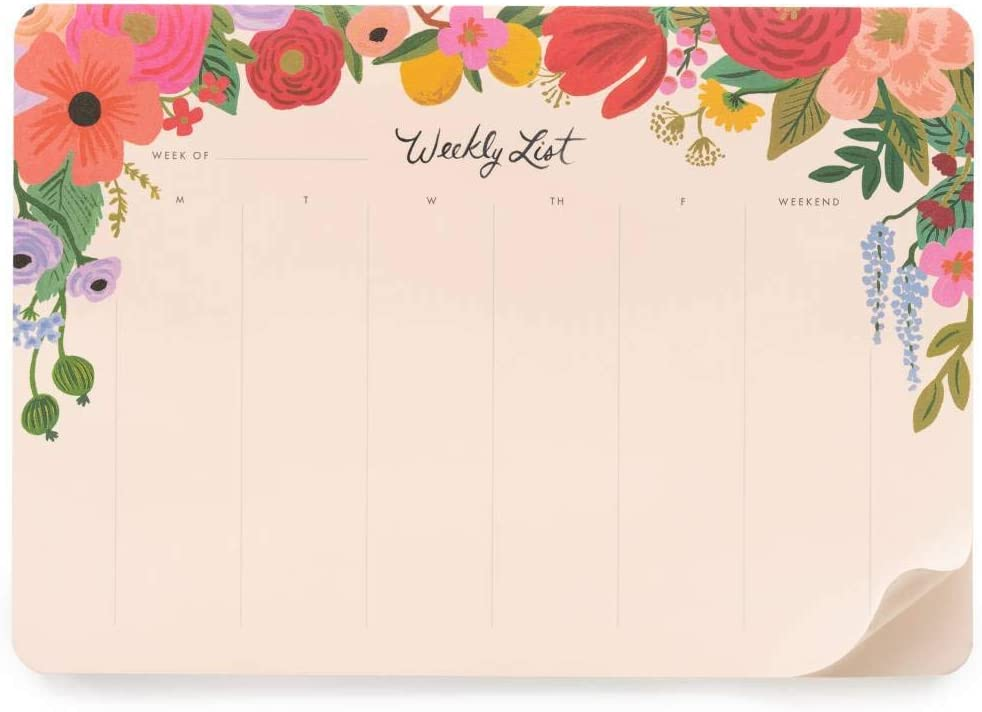Amazon Com Rifle Paper Co Garden Party Weekly Desk Pad Office