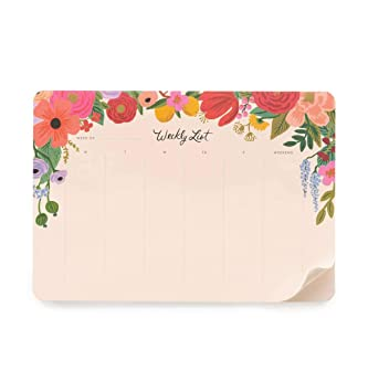 Rifle Paper Co. Garden Party Weekly Desk Pad