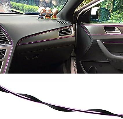 5M Chrome Red Flexible Car Interior Moulding Trim Strip Line Decor Gap Filler