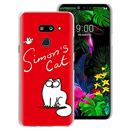 Simon's Cat Phone Case Cover for LG G7 G8 ThinQ G5 G6 V30 V40 V50 ThinQ Q6 Q7 Hard Back Case Cover,03,for LG G5