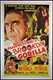 BELA LUGOSI MEETS A BROOKLYN GORILLA 1952 1-SHEET ON LINEN