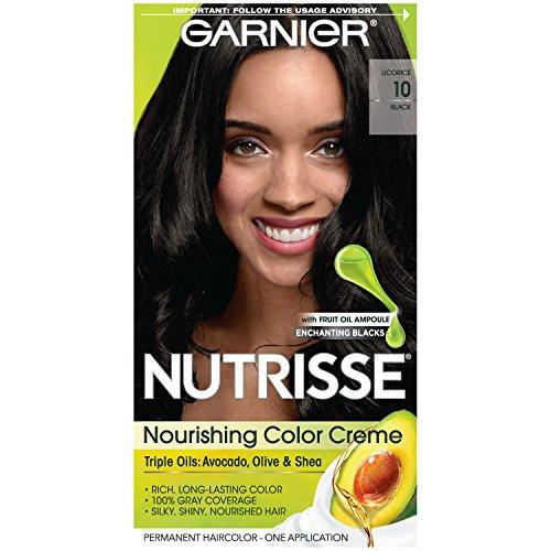 (Garnier Nutrisse Nourishing Color Creme Black [10] 1 ea)