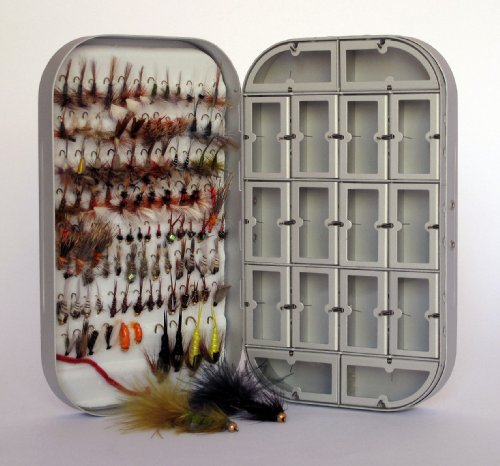 Fly Box + 100 Assorted Fly Fishing Fly Package, Outdoor Stuffs