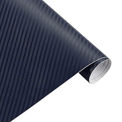 30x127cm 3D Carbon Fiber Vinyl Film Car Stickers Waterproof Car Styling Wrap Auto Vehicle Detailing Car Accessories Motorcycle Blue 30x127cm