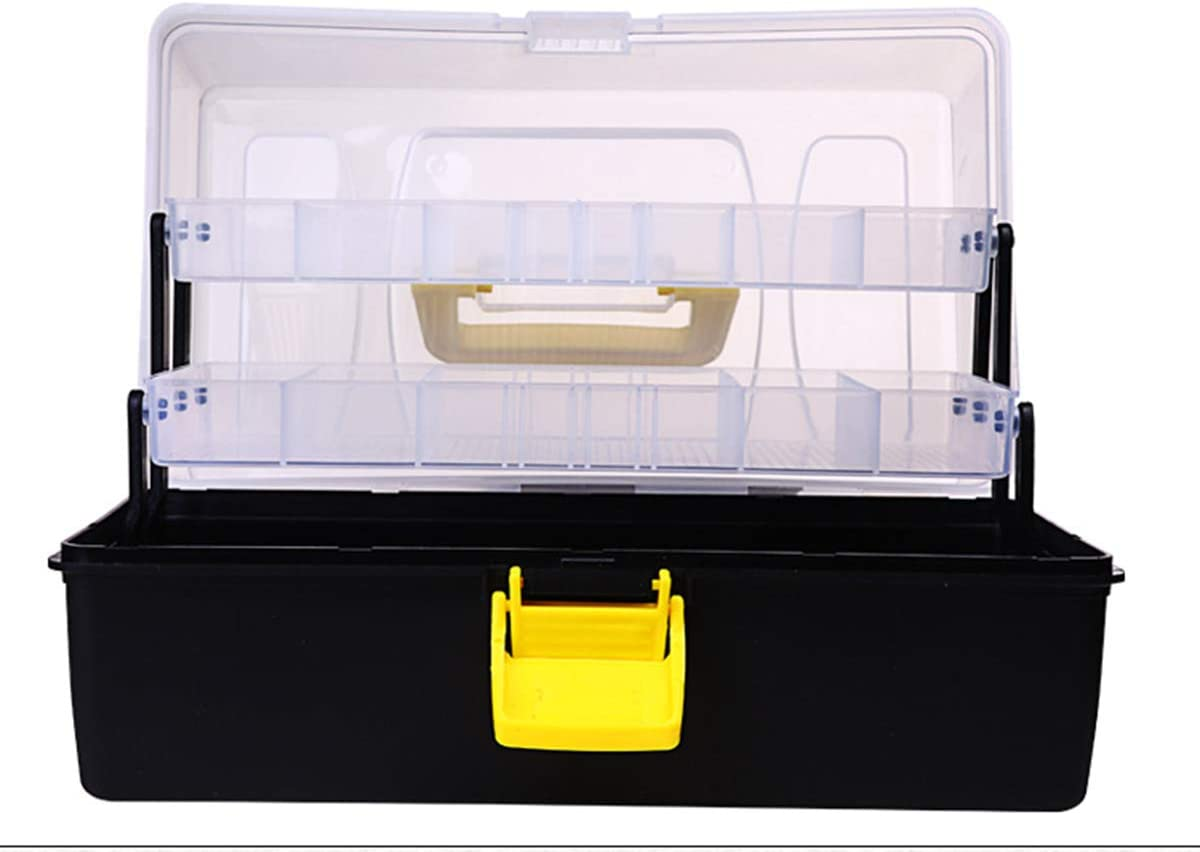 Fish Tackle Box With Fishing Bait Accessories Case Lure Parts Kit Set ac