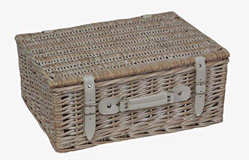 30cm Tiefe White Wash Leere Picknick-Korb