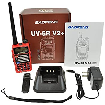 Baofeng Red Uv-5r V2+ (Usa Warranty) Dual-band 136-174400-480 Mhz Fm Ham Two-way Radio, Improved Stronger Case, Enhanced Features 4