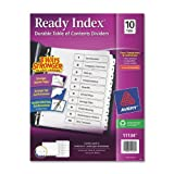 Avery - Ready Index Classic Tab Titles, 10-Tab, 1-10, Letter, Black/White, 10 per Set - Pack of 20