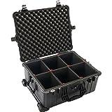 Pelican 1610 Watertight Hard Case with TrekPak Divider System, Black