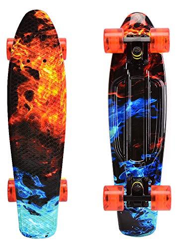 ChromeWheels Skateboards 22 inch Complete Skateboard Deck Mini Cruiser for