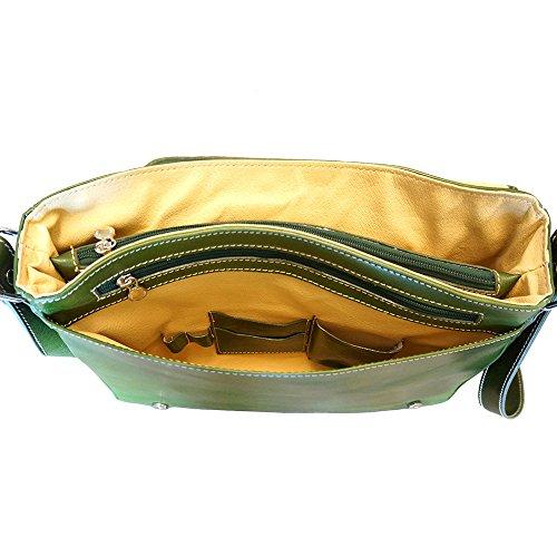 Bolso Bandolera de negocios 6555 Verde chiaro