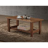 Baxton Studio Philbert Mid Century Modern Walnut Finished Wood Coffee Table