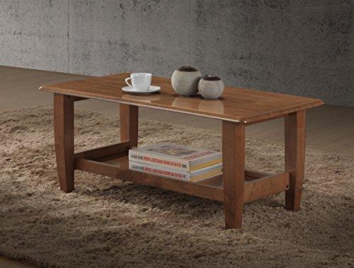 - Baxton Studio Philbert Mid Century Modern Walnut Finished Wood Coffee Table
