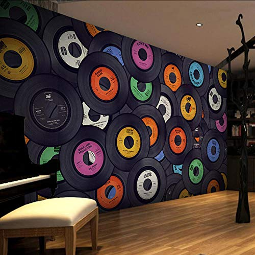 Sdefw Electronic Technology Nostalgic Backdrop 3D Wallpaper Murals Bar Ktv Decorated Puzzle (Best Electronic Arts The Mountain Kid Cds)