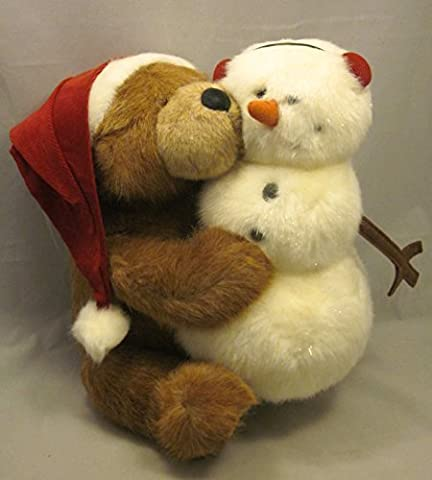 Boyds Bears Big Ol' Bubba Santa Bear with Frostie Frosty Snowman Christmas Holiday Plush Set by BOYDS BEARS - Boyds Bears Christmas