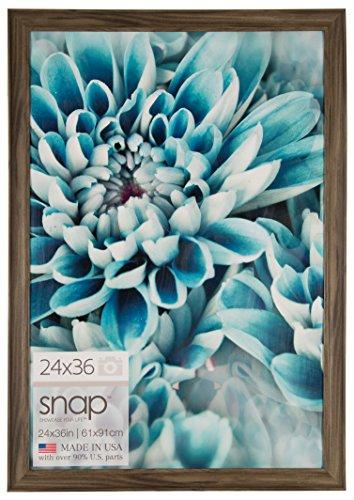 Snap 24x36 Greywash Scoop Poster Frame, Grey