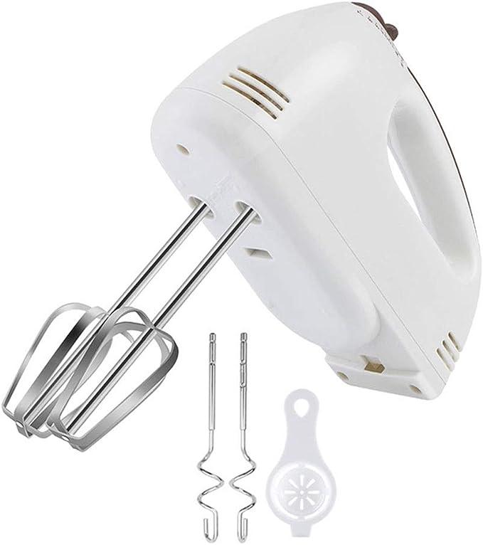 GINVF Batidora Amasadora eléctrica Batidora Amasadora de 7 velocidades Batidora para hornear en la cocina Mini batidora de huevo con crema de huevo - 2 batidores, 2 ganchos para masa - Ayuda de cocina: Amazon.es