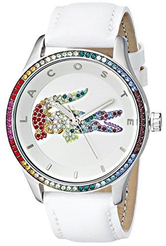 Lacoste Women s 2000822 Quartz Movement Victoria Watch, White Multi – One Eurone