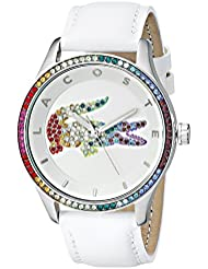 Lacoste Womens 2000822  Quartz Movement Victoria Watch, White/Multi - One / Eurone