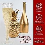 Plastic Champagne Flutes Disposable - 100 Pack