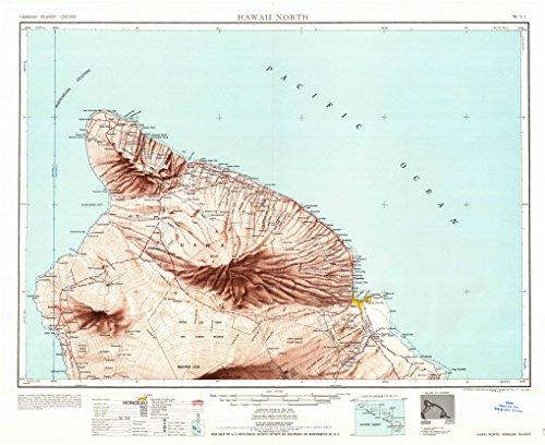 Hawaii North HI topo map, 1:250000 scale, 1 X 2 Degree, Historical, 1961, updated 1961, 22.2 x 27.2 IN - - Map Hawaii Waikoloa