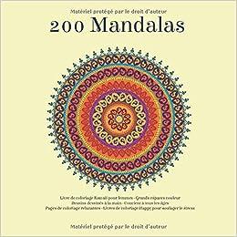 Amazon Com 200 Mandalas Livre De Coloriage Kawaii Pour Femmes