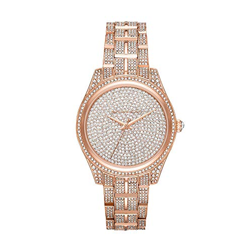 Michael Kors Women's Lauryn Quartz Watch with Stainless-Steel Strap, Rose Gold, 18 (Model: MK3931)