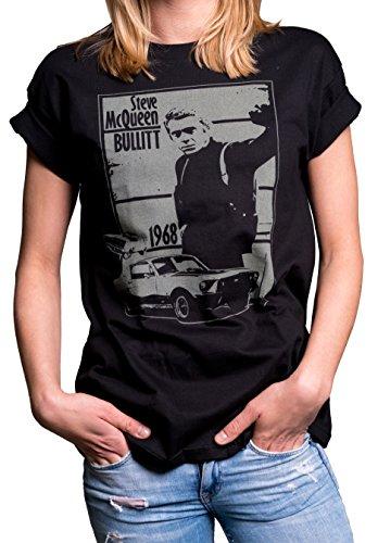 Bullitt Models (Vintage Bullitt Top Oversized - Womens Plus Size Shirt Black Mustang Gifts & Accessories US 20-22 = XXL)