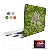 SUNKY MacBook Pro 13 inch Retina Case, Hard PC Snap-on Rubberized Soft-Touch Cover Keyboard Skin HD Screen Protector for MacBook Retina 13 inch(NO CD-ROM Drive) (A1502 A1425) - Frog in Leaf