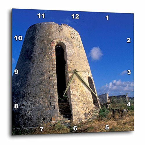 3dRose DPP_74402_3 Us Virgin Islands, St. Croix. Sugar Mills Plantation-Ca37 Bba0001-Bill Bachmann-Wall Clock, 15 by 15-Inch