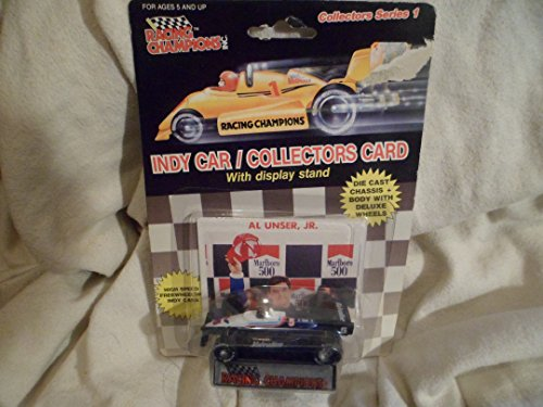 Jr Indy Car (1989 Racing Champions Indy Car #5 With Collectord Card Al Unser Jr.Vavoline 1:64 scale)