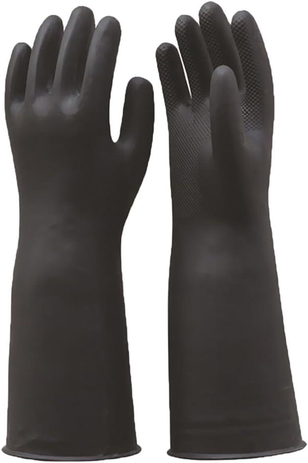 55 Cm Und 60 Cm FLAMEER 2 Paar Arml/änge Latex Schutzhandschuhe F/ür Berufst/ätige M/änner Frauen S/äurebest/ändig Und Alkalibest/ändig
