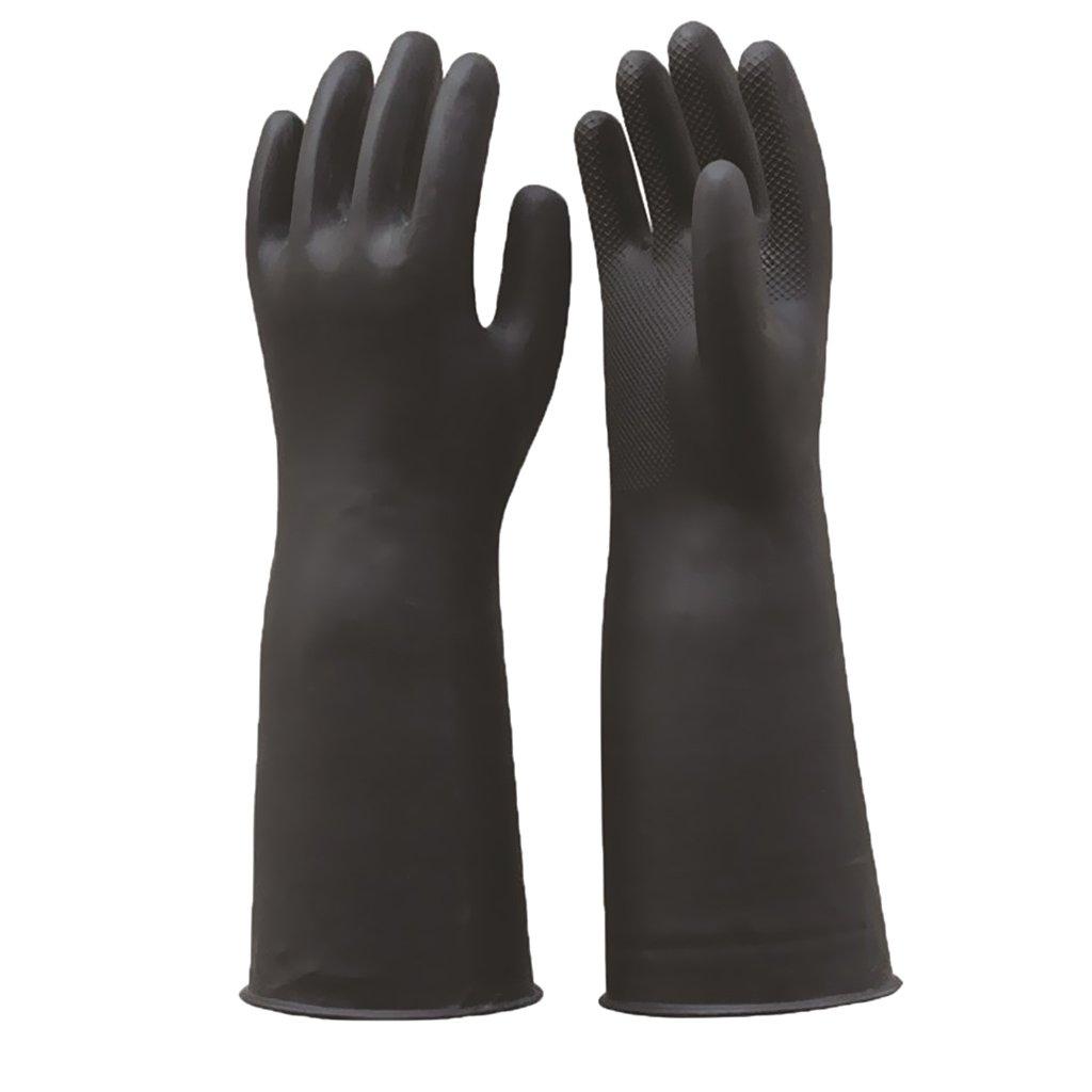 Noir Homyl 4pcs Gants de Protection de Travail en Latex Remplacement Pour Sableuse