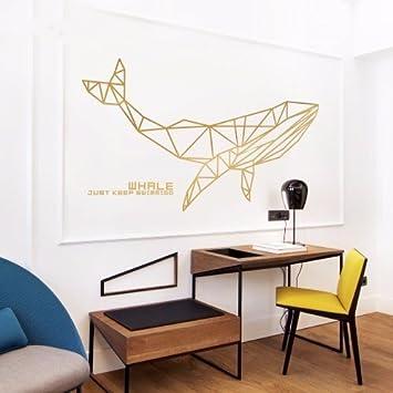 HCCY Die Kreative Schlafzimmer Wand In Ihrem Wohnzimmer Sofa Wand Poster  Geometrie Nashorn Wal Tapete Gestalten
